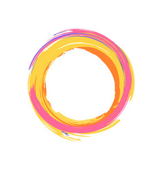 colorful icon circle on vector image