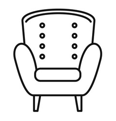 Comfort armchair icon outline style vector