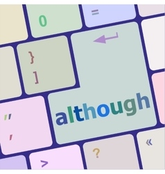 Computer keyboard button with altrough word on it vector image
