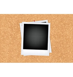 Cork Board With Photo vector image