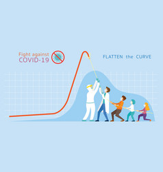 Covid19-19 flatten curve concept vector