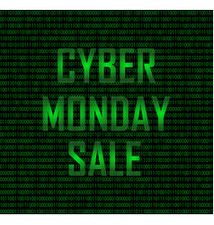 Cyber monday sale binary vector