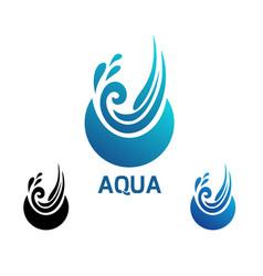 Design modern aqua logo vector