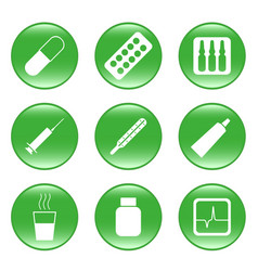 drug-store - web icons vector image
