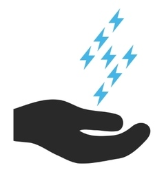 Electric Energy Offer Hand Eps Icon vector