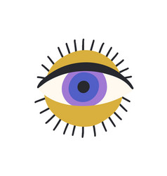 esoteric magic eyeball over sun circle spiritual vector image