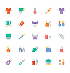 Fashion Colored Icons 8 vector image