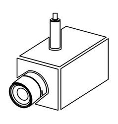 Figure video camera interior icon vector