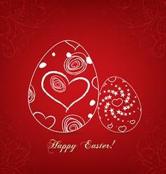 Floral easter egg sweet love vector