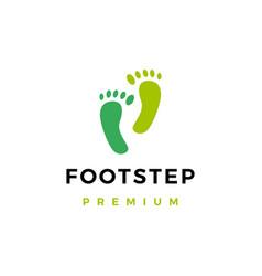 foot step logo icon vector image