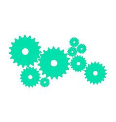 Gears in cyan design vector