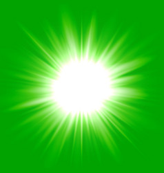 green flash star background vector image