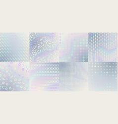 Holographic textures iridescent foil hologram vector