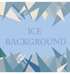 Ice background in blue color vector