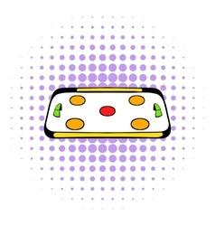 Ice hockey rink icon comics style vector