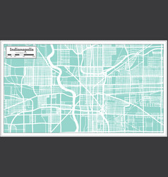 Indianapolis usa city map in retro style outline vector
