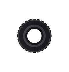 isolated tire flat icon wheel element can vector image