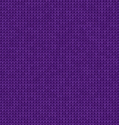 Knitted violet background vector image