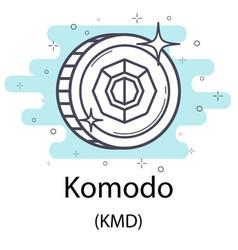 Komodo outline coin vector