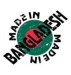 label Made in Bangladesh vector image vector image
