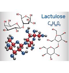 Lactulose molecule chemical formula vector