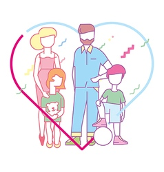 Large happy family vector image