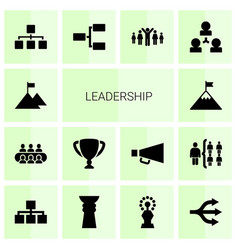 Leadership icons vector
