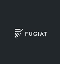letter f line logo design creative vector image
