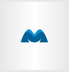 letter m blue symbol logotype vector image