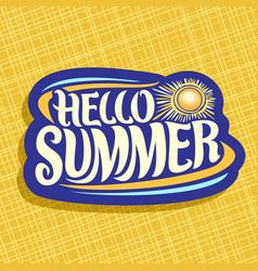 Logo for summer season vector