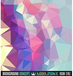 Low Poly trangular trendy Art background for your vector