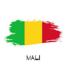 mali watercolor national country flag icon vector image
