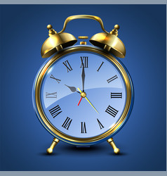 Metal retro style alarm clock vector