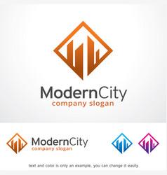 Modern city logo template design vector