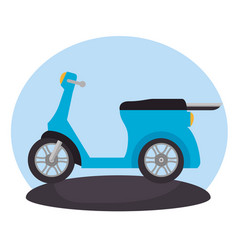 motorcycle vehicle in the road scene vector image