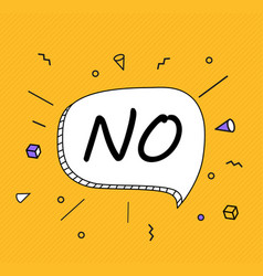 no banner poster and sticker concept speech bubble vector image