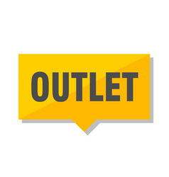 Outlet price tag vector
