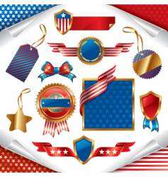 Patriotic signs vector