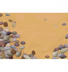 Pebbles on sand vector