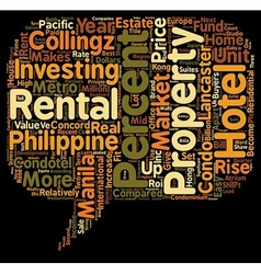 Philippine Apart Hotels or Condotels as an vector image