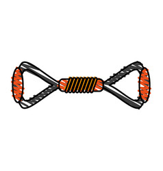 Resistance band exercise equipment icon image vector