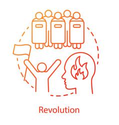 Revolution concept icon civil unrest idea thin vector