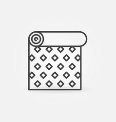 roll wallpaper with creative pattern linear vector image