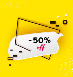 sale tag special offer banner template trendy vector image