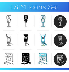 Sanitizers icons set vector