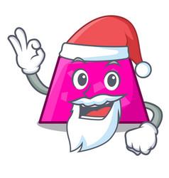 Santa trapezoid mascot cartoon style vector