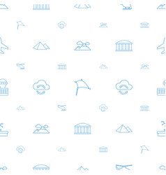 sky icons pattern seamless white background vector image