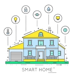 Smart house Home technology vector