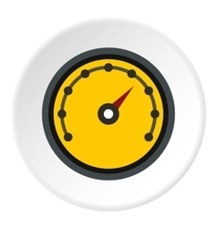 Speedometer with dot notation icon flat style vector