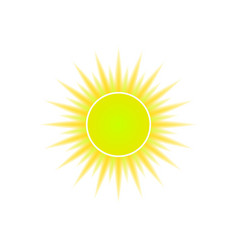 sun icon for weather design vector image